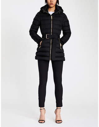 Burberry Linefield quilted down and feather-blend puffer coat