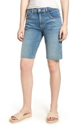 7 For All Mankind High Waist Denim Bermuda Shorts (Desert Oasis)