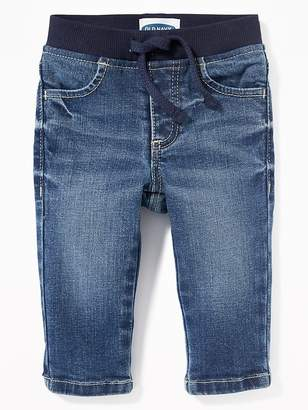 Old Navy Rib-Knit-Waist Pull-On Jeans for Baby