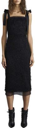 Rebecca Vallance Martina Tie Shoulder Midi Dress