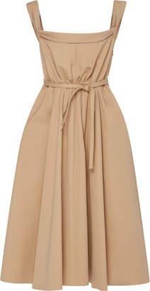 Brock Collection Patti Tie-Waist Cotton Dress