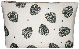 Jungle Leaf Wash/Clutch Bag