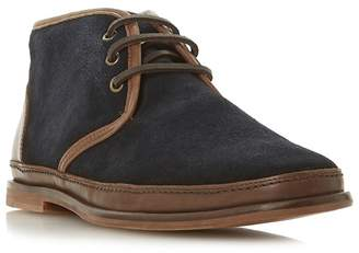 Bertie - Navy 'Canvas' Lace Up Desert Boots