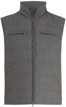THOM SWEENEY Quilted down wool gilet