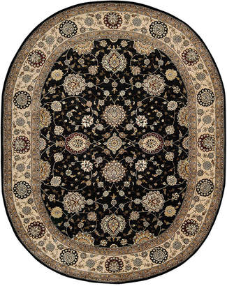 "Nourison Wool & Silk 2000 2204 7'6"" x 9'6"" Oval Rug"