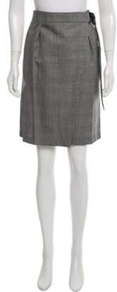 Louis Vuitton Wool Glen Plaid Skirt Black Wool Glen Plaid Skirt