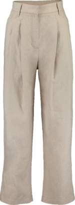 Brunello Cucinelli High Waist Cropped Pleated Pant