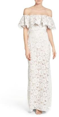 Women's Eliza J Off The Shoulder Lace Gown $248 thestylecure.com