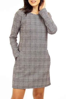 Veronica M Glen Plaid Ponte Shift Dress