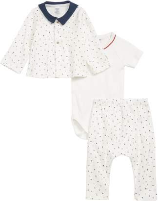 Petit Bateau Shirt, Bodysuit & Leggings Set