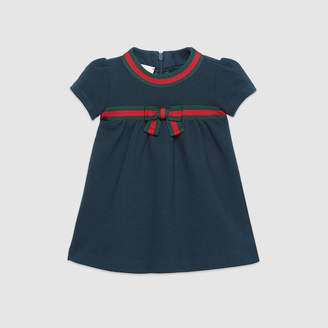 Gucci Baby cotton dress with Web bow