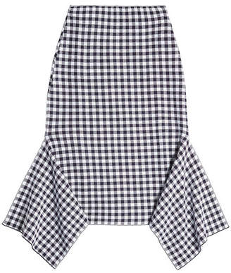 Rosetta Getty Printed Cotton-Blend Skirt with Handkerchief Hem