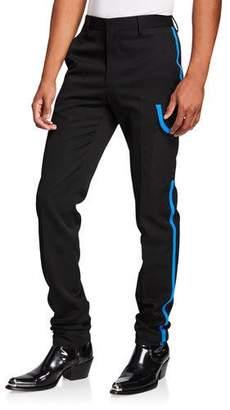 Calvin Klein Men's Wool Scuba Pants w/ Contrast Trim