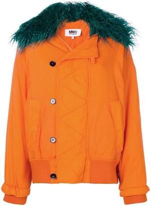 59070c061607 Code  15off at Farfetch · MM6 MAISON MARGIELA short padded coat