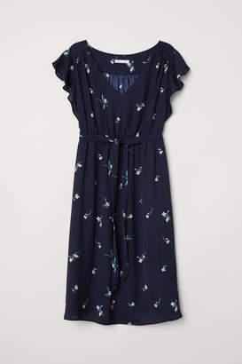 H&M MAMA V-neck Dress - Dark blue/dotted - Women