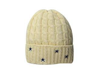 San Diego Hat Company KNH3588 Cable Knit Beanie with Star Embroidery