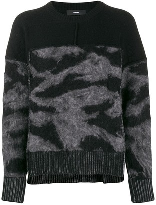 Diesel loose-fit panelled jumper