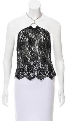 Dolce & Gabbana Semi-Sheer Lace Halter Top