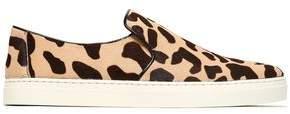 Diane von Furstenberg Printed Calf Hair Slip-On Sneakers