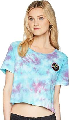 Volcom Junior's Georgia May Jagger Core Tie Dye Short Sleeve Shirt