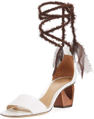 The Row Hanna Ankle-Wrap Leather Sandal