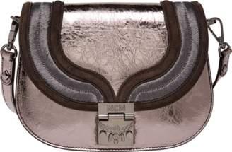 MCM Trisha Shoulder Bag In Metallic Leather