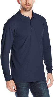 Cutter & Buck Men's Long-Sleeve Evans Pique Polo
