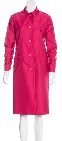 pradaPrada Wool & Silk-Blend Coat