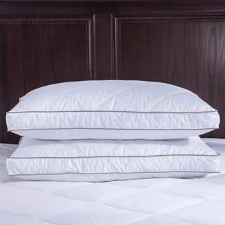 Pure Down Puredown Goose Feather and Down Pillow, 100% Cotton, Gusset Siding, King, Set of 2