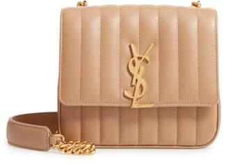 Saint Laurent Medium Vicky Leather Crossbody Bag