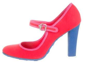 Marc Jacobs Canvas Mary Jane Pumps