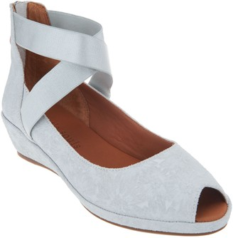 Kenneth Cole Gentle Souls By Gentle Souls Leather Peep Toe Wedges - Lisa