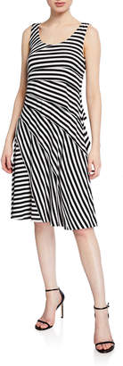 philosophy Tiered Striped Scoop-Neck Dress