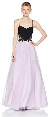 Blondie Nites Women's Colorblock Ballgown with Applique Sides