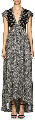 Philosophy di Lorenzo Serafini Women's Floral Crepe & Lace Maxi Dress