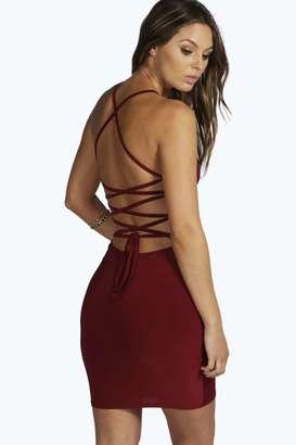 boohoo Lydia Slinky Strappy Bodycon Dress