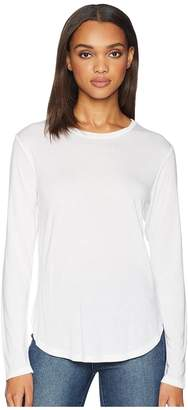 LnA Drapey Modal Long Sleeve Curved Crew Women's Clothing