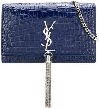 Saint Laurent crocodile embossed Kate chain wallet