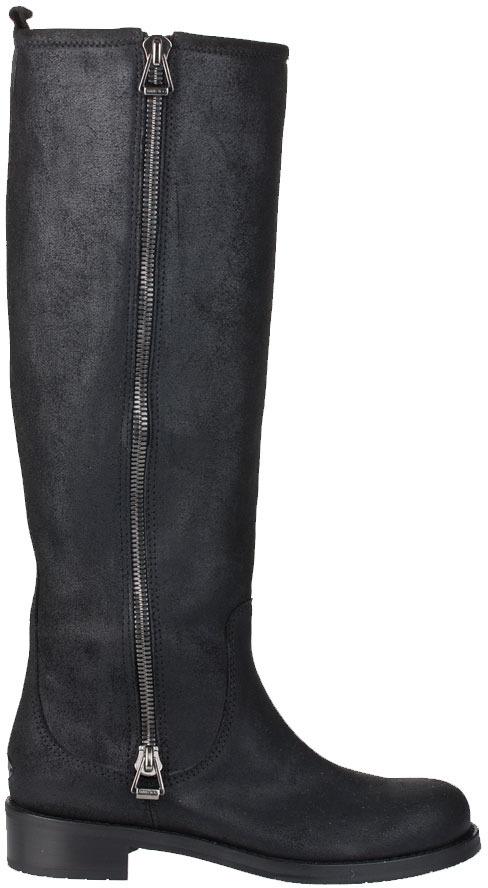 Jimmy Choo Doreen black leather knee high boot