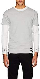 NSF Men's Distressed Cotton Jersey T-Shirt - Gray