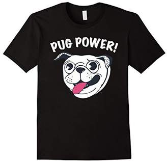 Funny and Cute Pug Power T Shirt for Dog Lovers.