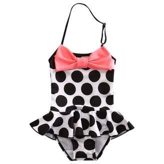 Rachel Charm Toddler Baby Girls One Piece Skirt Swimsuit Toddler Swimwear Polka Dot Ruffle