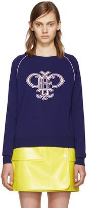Emilio Pucci Purple Wool Logo Sweater $740 thestylecure.com