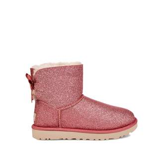 UGG Mini Bailey Bow Sparkle Sheepskin Boots