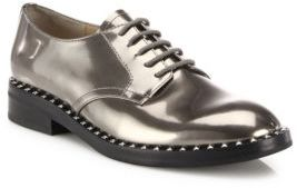 Ash Wonder Metallic Leather Lace-Up Oxfords $280 thestylecure.com