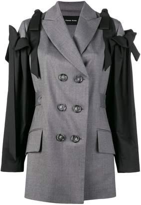 Simone Rocha double breasted bow sleeve jacket