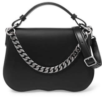 Calvin Klein Chain-trimmed Leather Shoulder Bag