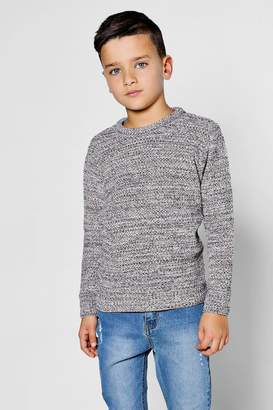 boohoo Boys Textured Twist Crew Neck Jumper