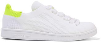 adidas Originals - Stan Smith Boost Primeknit Sneakers - White $120 thestylecure.com