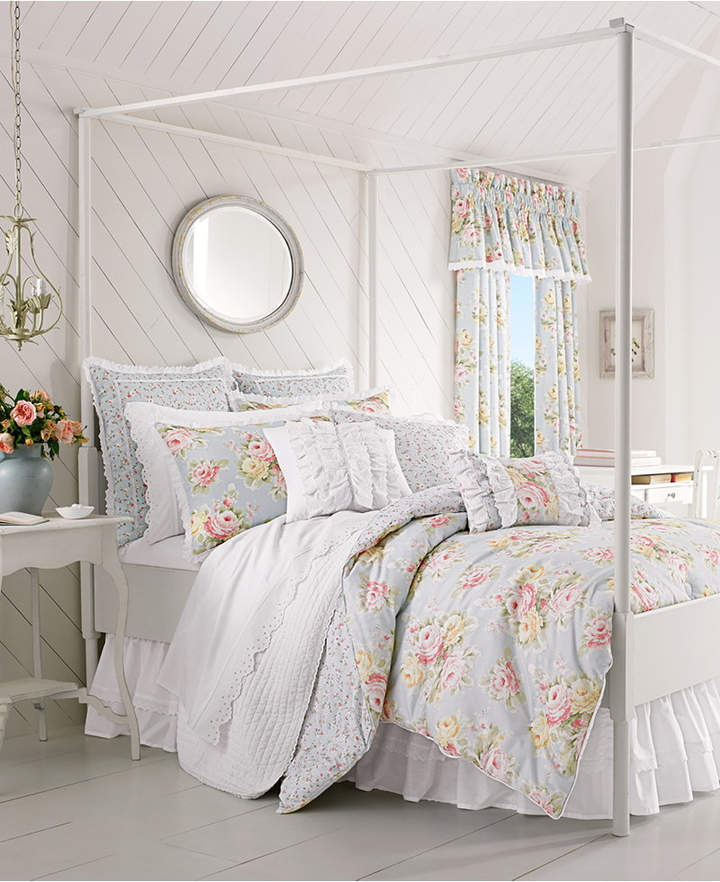 Piper & Wright Stella 4-Pc. Floral Print Queen Comforter Set Bedding